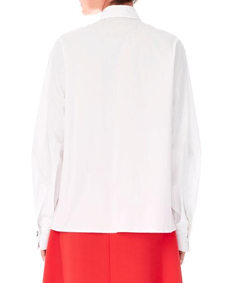 Carolina Herrera Animal-Buttons Collared Cotton Shirt