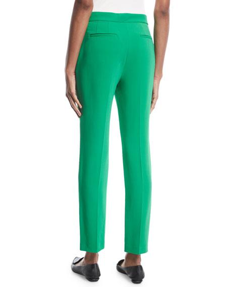 Rosetta Getty Cropped Skinny-Leg Stretch-Cady Trousers