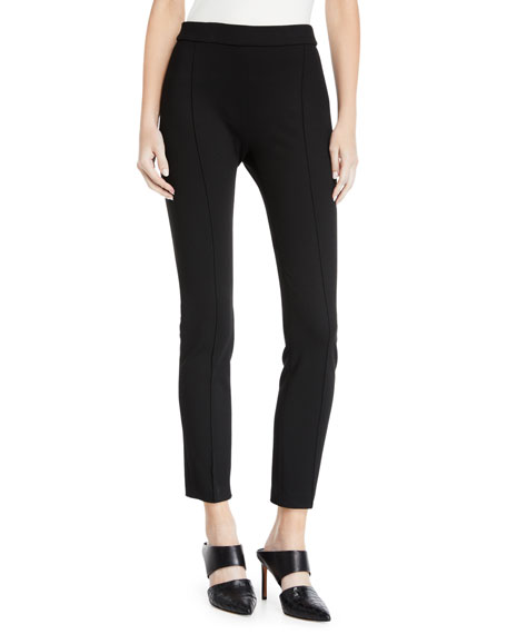Rosetta Getty Pintuck Pull-On Interlock Jersey Leggings