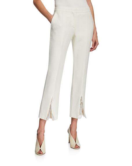 Alexander McQueen Lace-Trimmed Slit-Cuff Pants