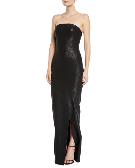 Zac Posen Strapless Shimmer Straight Gown