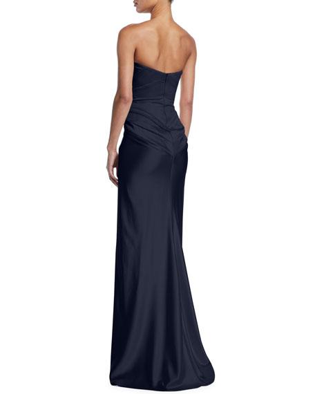 Zac Posen Strapless Knot-Front Bustier Dress