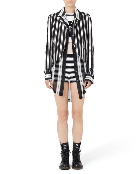 Marc Jacobs Long Wide-Stripe Button-Front Shirt