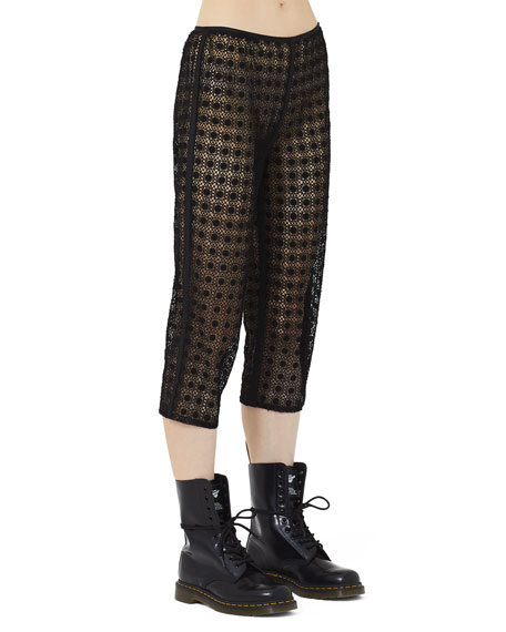 Marc Jacobs Square-Lace Illusion Crop Pants