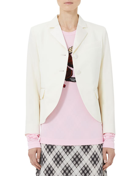 Marc Jacobs Tailored Patch-Pocket Wool Blazer