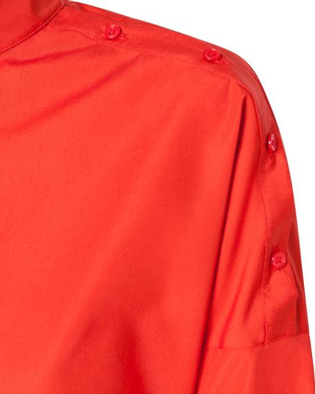 Akris punto Button-Shoulder Kimono Blouse