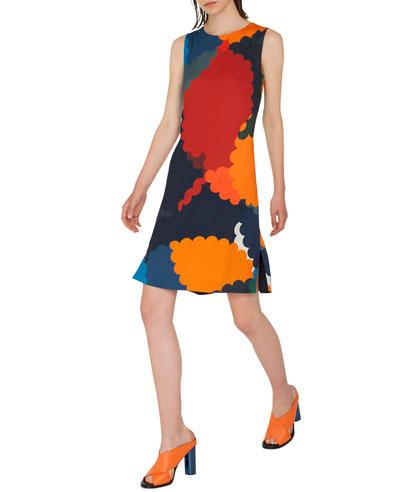 Nuvola-Print Jersey Shift Dress
