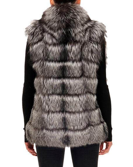 Gorski Horizontal-Quilted Fox-Fur Vest