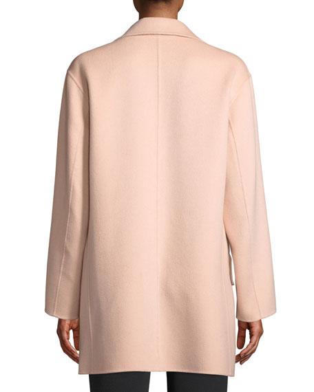 Emporio Armani Double-Breasted Cashmere Pea Coat