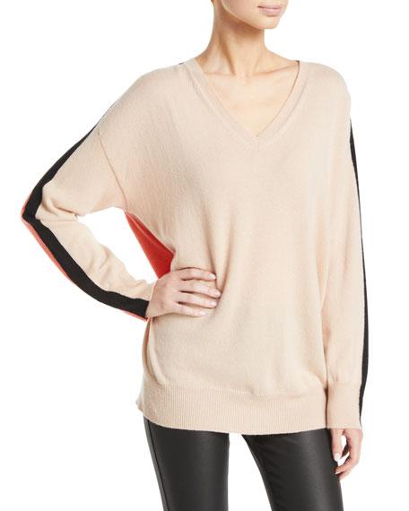 Emporio Armani Cashmere Colorblocked V-Neck Sweater