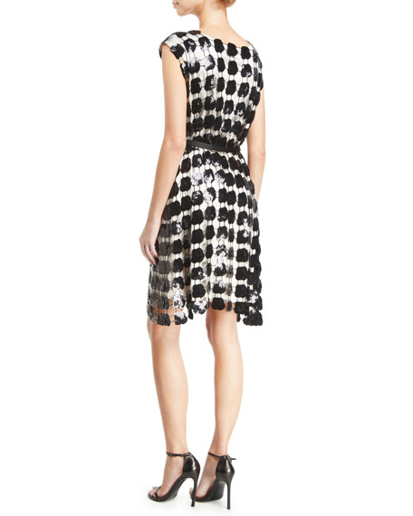 Emporio Armani Sleeveless Embroidered Macrame Dress