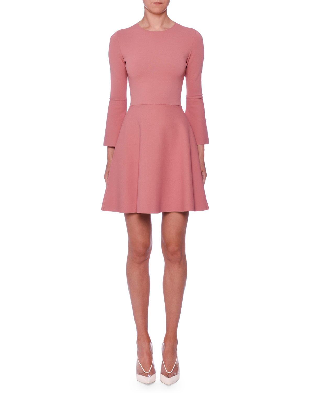 24b0c7042ee3 Stella McCartney Bell-Sleeve Fit-and-Flare Short Dress | Neiman Marcus