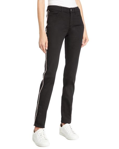 Emporio Armani Mid-Rise Piped Skinny Jeans