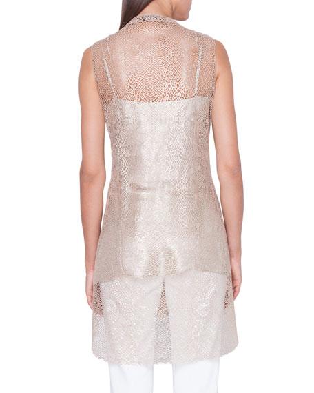 Akris Sleeveless Net-Lace Illusion Tunic