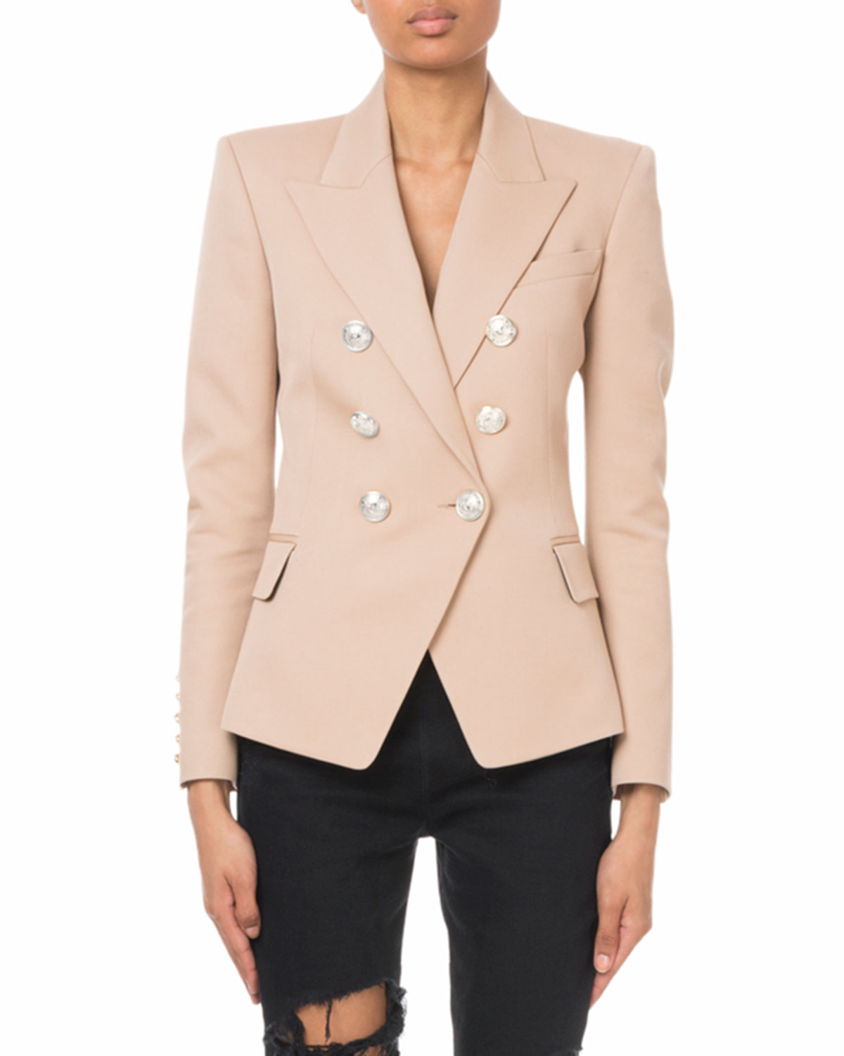 Double Breasted Button Classic Blazer by Balmain