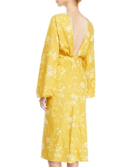 Johanna Ortiz San Bernardo del Viento Floral-Print Deep-V Wrap Dress
