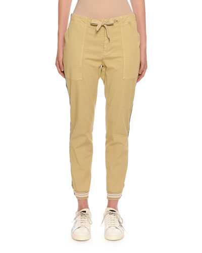 Pull-On Twill Jogger Pants