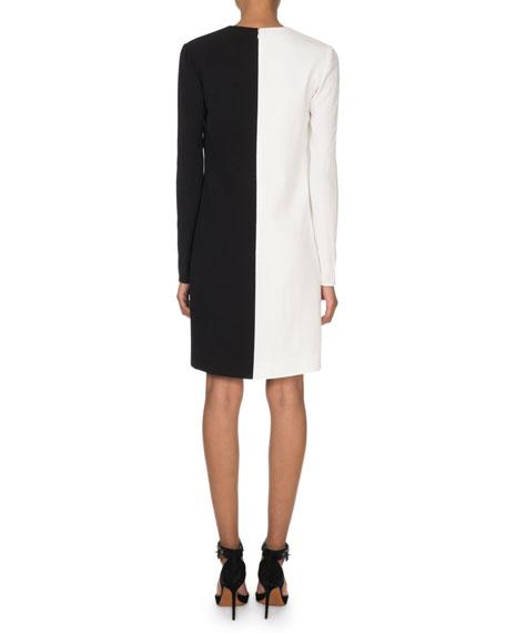 Givenchy Two-Tone V-Neck Shift Dress