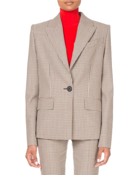 Givenchy Microcheck Single-Breasted Blazer