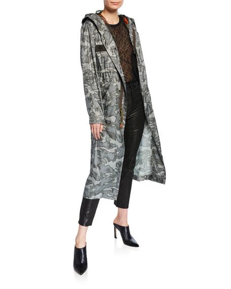 Mr&Mrs Italy Camo Print Long Parka Coat