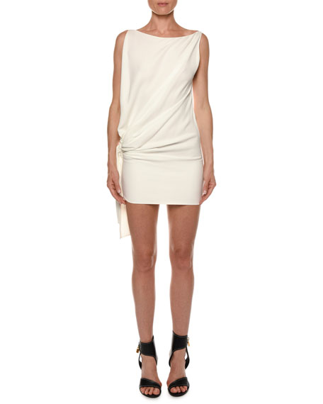 TOM FORD Open-Side Blouson Viscose Cady Mini Cocktail Dress