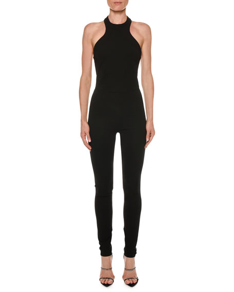 TOM FORD Racerback Sleeveless Skinny-Leg Viscose Jersey Jumpsuit