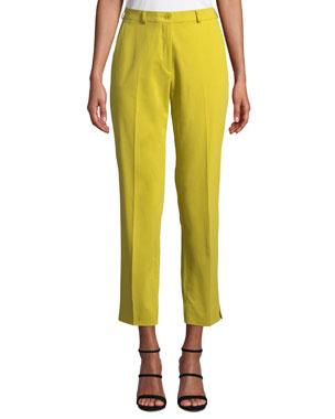 6d38b0f69fc0a Etro Mid-Rise Straight-Leg Stretch-Cotton Capri Trousers