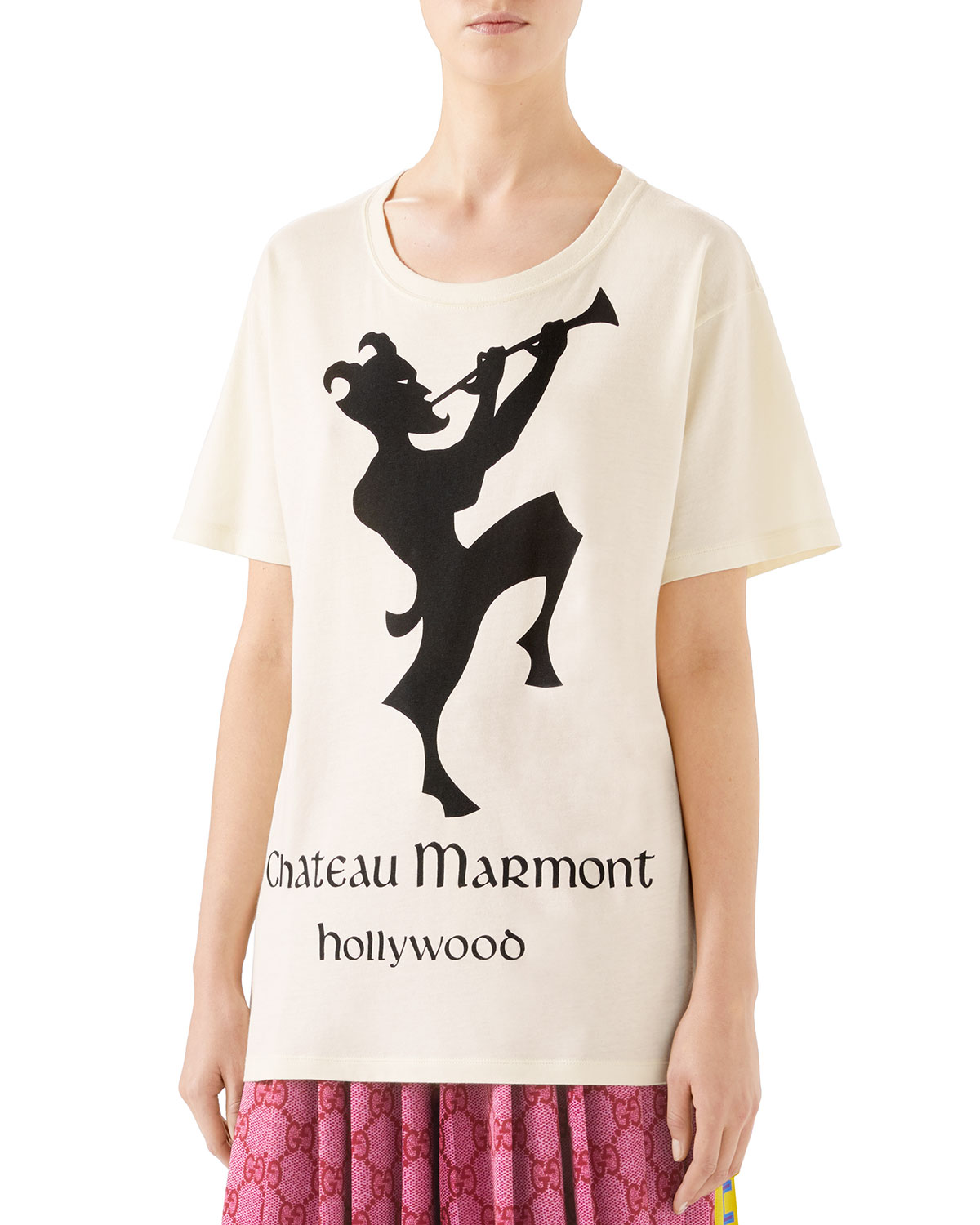 a5f99d826c6 Gucci Oversized Chateau Marmont T-Shirt