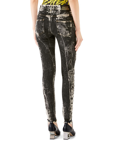 Gucci Marble Washed Skinny Jeans