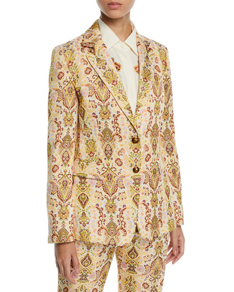 Etro Paisley Jacquard Blazer Jacket