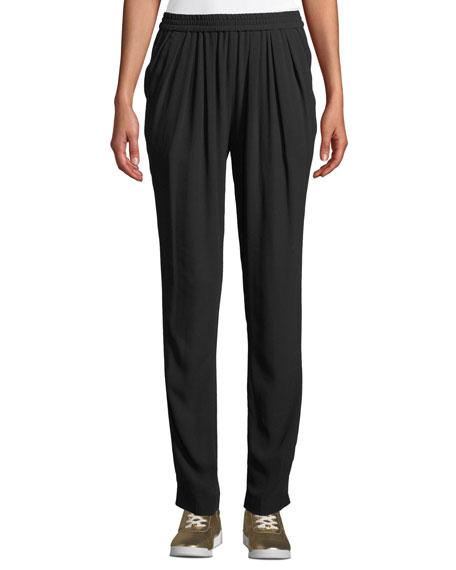 Michael Kors Collection Silk-Georgette Jogger Pants