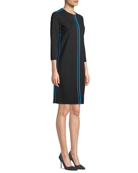 Escada Sport 3/4-Sleeve A-Line Knit Dress w/ Piping