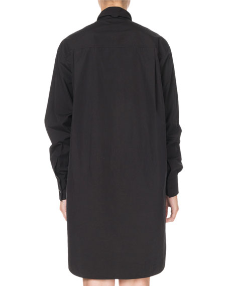 Givenchy Long-Sleeve Pleated-Ruffled Scarf Dress