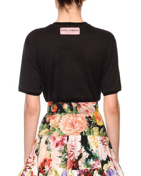 Dolce & Gabbana Fashion Explosion Patchwork Logo Tee