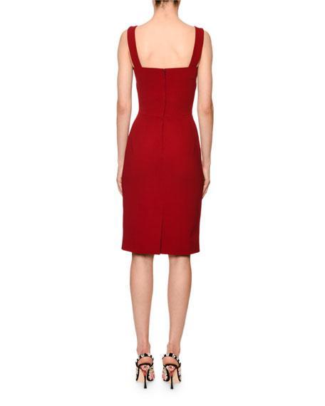 Dolce & Gabbana Sleeveless Square-Neck Cady Sheath Dress