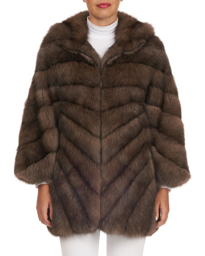 Russian Sable-Fur Stroller Coat