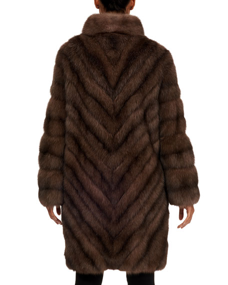 Image 2 of 4: Russian Sable Fur Short Coat