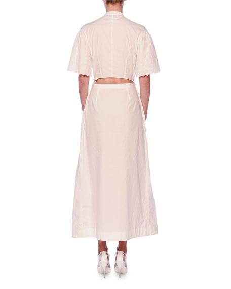 8d552991d4 Image 2 of 3  Stella McCartney V-Neck Eyelet Embroidered Midi Dress