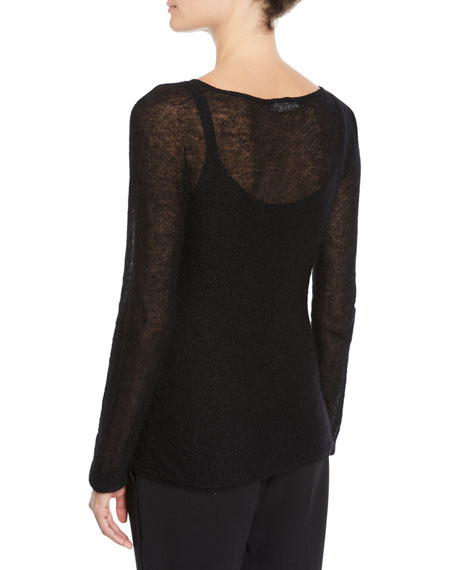 Maxmara Spalato Semisheer Knitted Mohair-Blend Sweater
