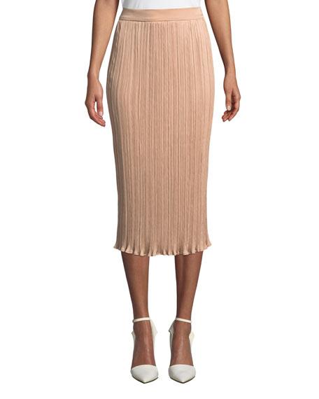 Maxmara Emmy Slim Plisse Midi Skirt