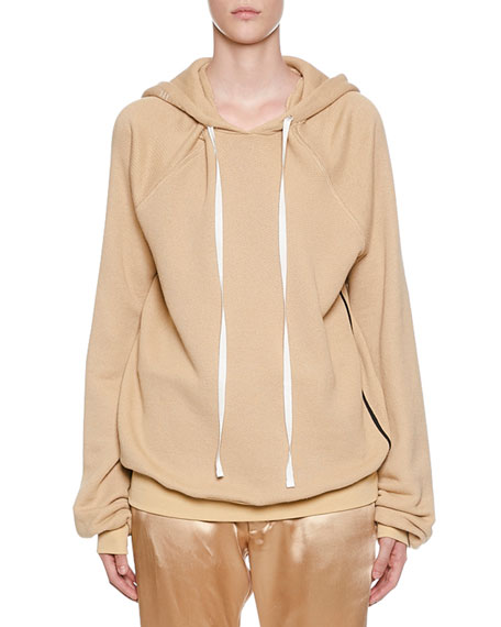 UNRAVEL Shoulder Cutout Cotton-Cashmere Hoodie