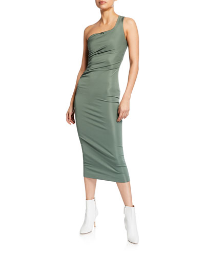 Twisted One-Shoulder Dress