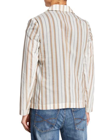 Brunello Cucinelli Striped Cotton-Silk Jacket