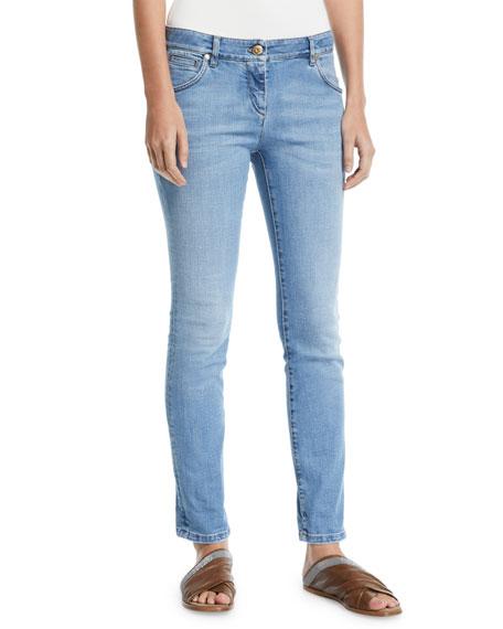 Brunello Cucinelli Low-Rise Skinny Stretch-Denim Pants