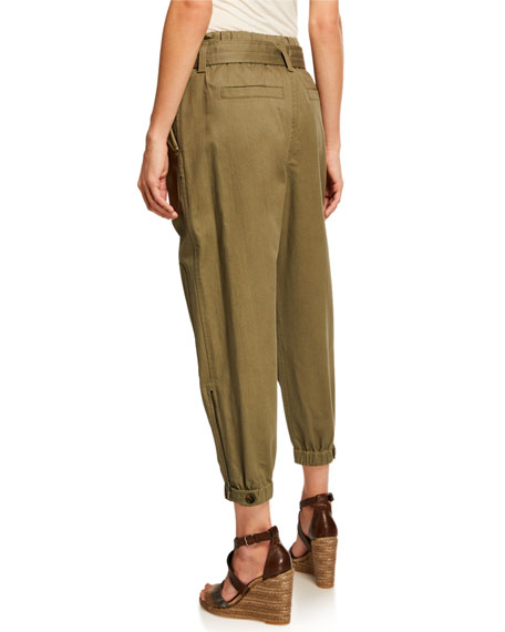 Brunello Cucinelli Belted Cotton Utility Pants