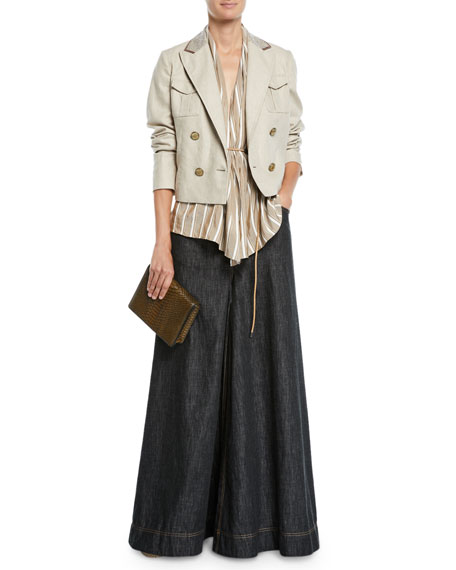 Brunello Cucinelli Jean Maxi Skirt Pants