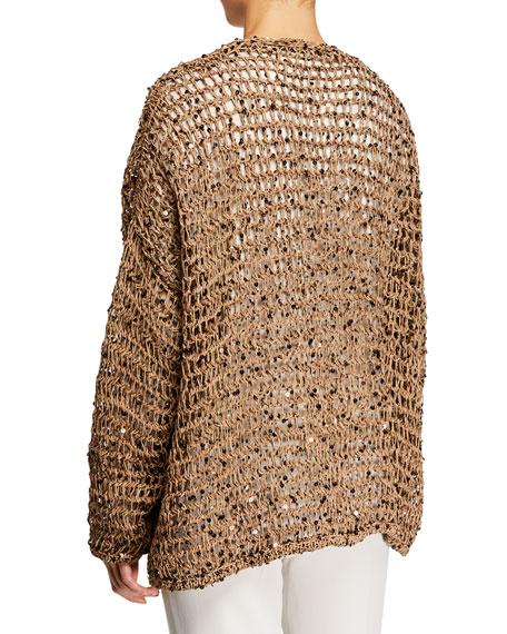 Brunello Cucinelli Sparkling Rustic-Net Cardigan