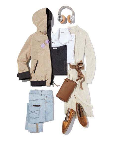Brunello Cucinelli Oversized Button-Front Cotton-Poplin Shirt