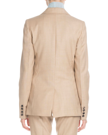 Victoria Beckham Notched-Lapel Two-Button Tailored Wool Jacket