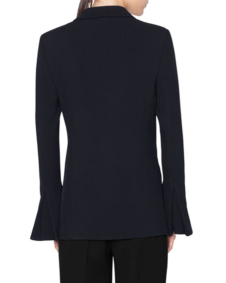 Akris punto Hook-Front Wool Tricot Blazer Jacket